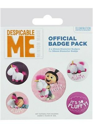 Despicable Me It's So Fluffy Badge Pack