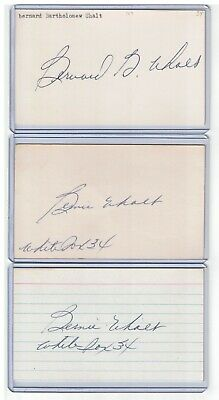 (2) Bernie Frenchy Uhalt Index Card Signed 1934 White Sox Psa/dna Cert 1910-2004