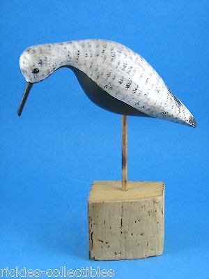 Bird Decoy - Hand-made of Wood with Glass Eyes