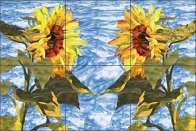 Ceramic Tile Mural Backsplash Expressions Sunflowers Floral Flower Art OB-PES76