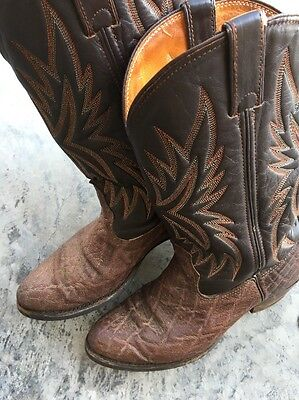 Double H Exotic Mens Size 8.5 D Western Boots
