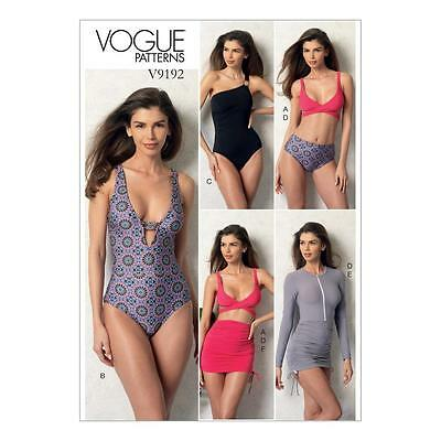 Vogue Sewing Pattern Misses' Top Swimsuit Bottom & Cover-Up  Size 6 - 22 V9192