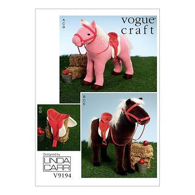 VOGUE CRAFT SEWING PATTERN Plush Doll Horses with Saddle, Bridle ...