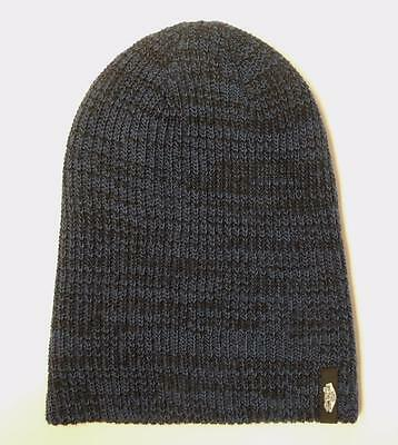 f34fcaefcce6 Vans Off The Wall Mismoedig Beanie Blue Black Marled Hat 100% Acrylic New  NWT