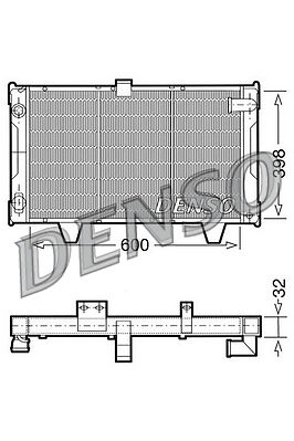 Denso Radiator DRM21061 Replaces 130163 730062