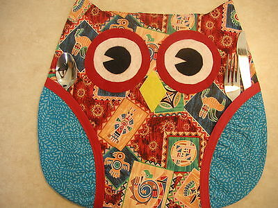 Who's Place! Owl Place Mats (1) Handmade By Me! So Cute!!