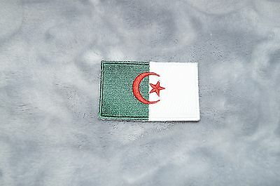 Patch Country Flag Sew On Iron On Jacket Shirt or Pants Algeria Color