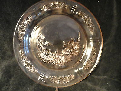 Pink Sharon Dinner Plate Depression Glass 9 in Federal Glass