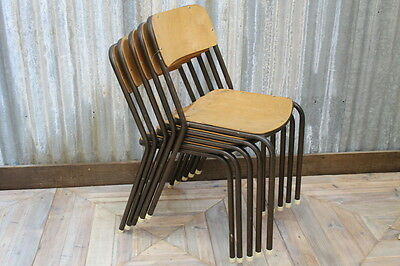 Industrial Seating Vintage Straight Leg Stacking Chairs Large Quantity Available