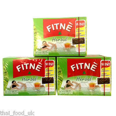 Three Packs Of Fitne Herbal Infusion Slimming Tea (Green Tea Flavour)
