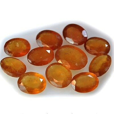 51.5Ct 11Pc Natural Hessonite Garnet (faceted-11mm X 8mm to 15mm X 11mm)