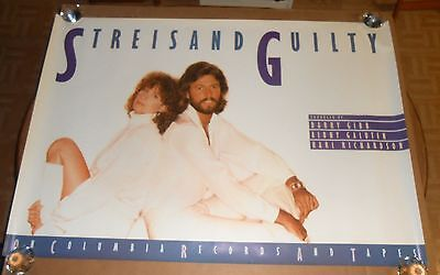 Barbra Streisand Guilty Poster Promo 47x33 HUGE Barry Gibson BeeGees RARE