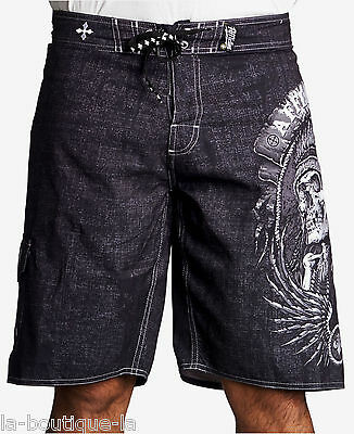 Men/'s Boardshorts Swim Trunks Affliction NEW Georges St-Pierre GSP ICON