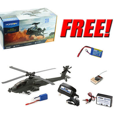 Blade BLH2580 Micro AH-64 Apache Helicopter BNF + Free Extra Eflite Lipo Battery