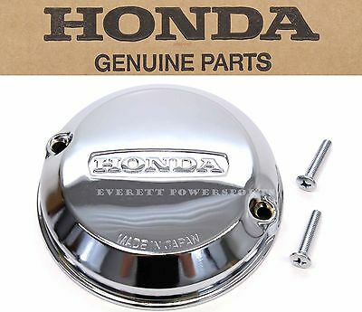 New Genuine Honda Chrome Points Cover w/Gask  CB 350F 400F 500K 550K 550F #Q59