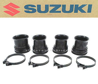 Suzuki Air Box to Carburetor Boots and Clamps Set 80-81 GS1000 G OEM Carb #E87