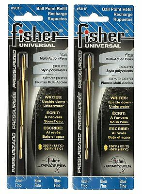 "Fisher Space Pen #SU1F / TWO  BLUE ""SU"" Series Refills"