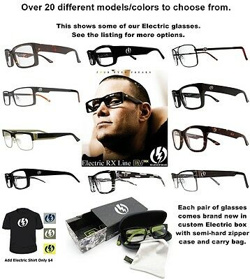 New Electric Rx Prescription Eyeglasses Frames Mens Msrp$140