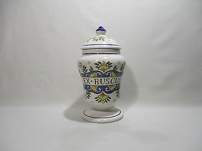 Pot A Pharmacie Faience St Clement Ex Ruscus Apothicaire Medecine