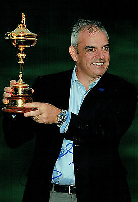 Paul McGINLEY Ryder Cup Winning Captain GOLF SIGNED AUTOGRAPH AFTAL COA