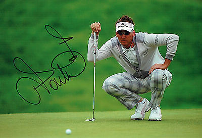 Ian POULTER SIGNED Autograph 12x8 Putting Green Photo AFTAL COA GOLF