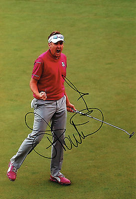 Ian POULTER SIGNED Autograph Ryder Cup Golf Team Europe 12x8 Photo AFTAL COA