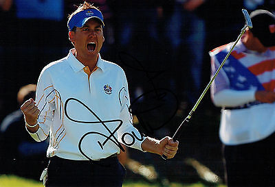 Ian POULTER SIGNED Autograph Ryder Cup Golf Team Europe WINNERS Photo AFTAL COA