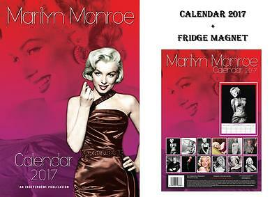 Marilyn Monroe 2017 Calendar + Marilyn Monroe Fridge Magnet - In Stock Now