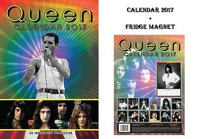 Queen 2017 Calendar + Queen Fridge Magnet