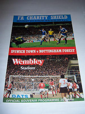1978 CHARITY SHIELD - IPSWICH TOWN v NOTTINGHAM FOREST - FOOTBALL PROGRAMME