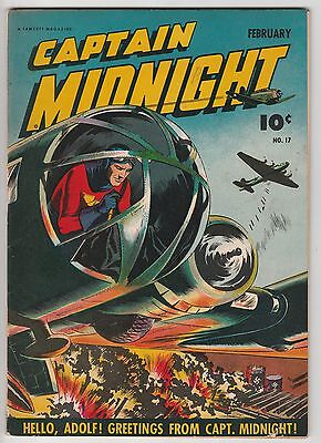 Captain Midnight #17,war Book,tight Grading,nice To Add To Your Collection!