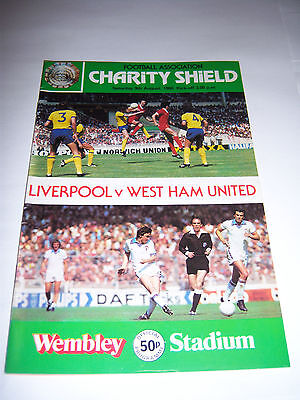 1980 CHARITY SHIELD - LIVERPOOL v WEST HAM UNITED - FOOTBALL PROGRAMME
