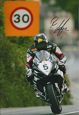 Bruce ANSTEY IOM TT In Person SIGNED Autograph 12x8 Photo AFTAL COA