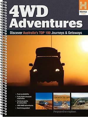 NEW Australia 4WD Adventures Atlas By Hema Maps Spiral Ringed Book Free Shipping