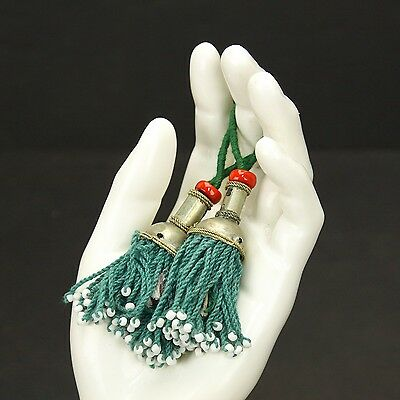 PAIR Tribal Jewelry Clothing TASSELS Belly Dance Kuchi Bellydance 729a8