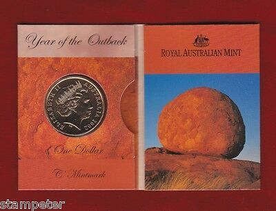 2002 UNC $1 RAM YEAR OF THE OUTBACK C MINT MARK COIN IN FOLDER