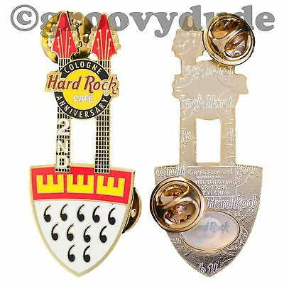 2005 Cologne Hard Rock Cafe 2nd Anniversary Double Neck Guitar Pin HRC Le Series