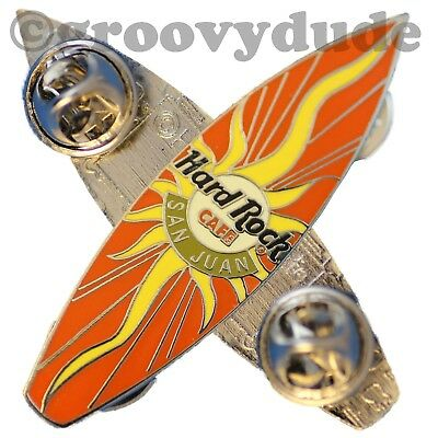 Original Hard Rock Cafe San Juan Surfboard Pin HRC Surf Board New Sun Burst