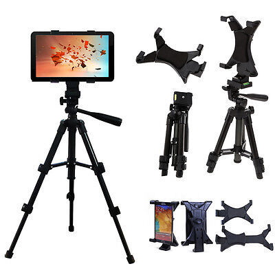 Adjustable Foldable Tripod Stand Holder Bracket Clamp For iPad 2 3 4 Tablet PC