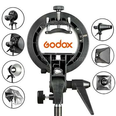 Godox S-Type Bracket Bowens Mount Holder for Speedlite Flash Snoot Softbox Black
