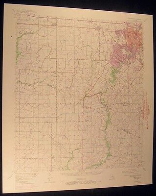 Lafayette Louisiana Maurice Andrew 1972 vintage USGS original Topo chart map