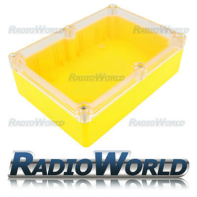 Multi Purpose Waterproof DIY Project Box Enclosure Case IP65 ABS Yellow / Clear