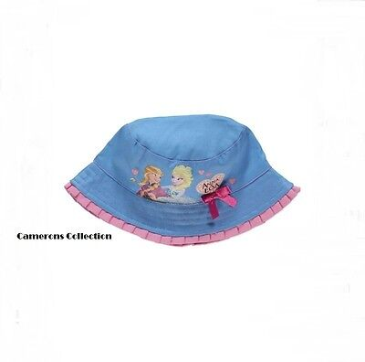 Ex-Disney Baby & Girls ANNA & ELSA - FROZEN Summer Sun Hat   1-3  4-8  8-12  yrs