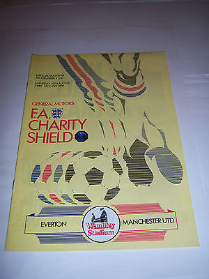 1985 CHARITY SHIELD - EVERTON v MANCHESTER UNITED - FOOTBALL PROGRAMME