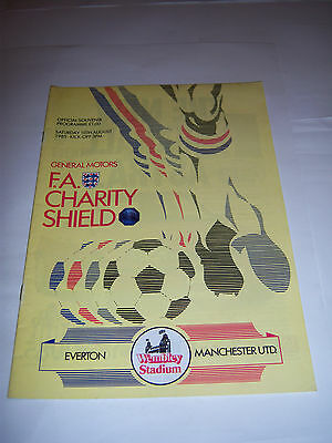 1985 FA CHARITY SHIELD - EVERTON v MANCHESTER UNITED - FOOTBALL PROGRAMME