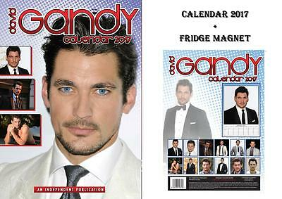 David Gandy 2017 Calendar + David Gandy Fridge Magnet