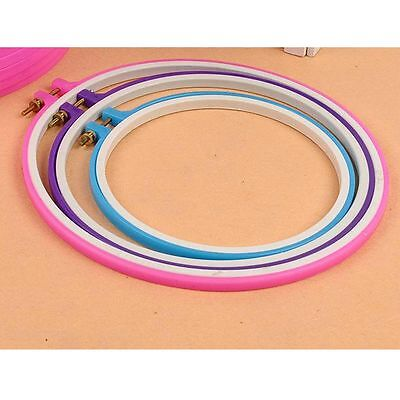 3pcs Set Plastic Cross Stitch Embroidery Hoop Ring Frame 19/24/27cm 7.5-10.5''