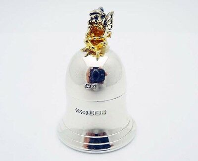 Harman Brothers Birmingham 1989 Sterling Silver Tooth Fairy Babies Tooth Holder