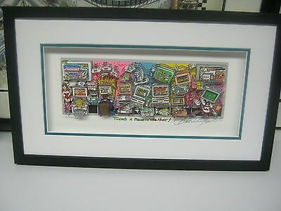 """Charles Fazzino """"Mouse in the House"""" 3-D Signed & Number Framed Deluxe Sold Out"""