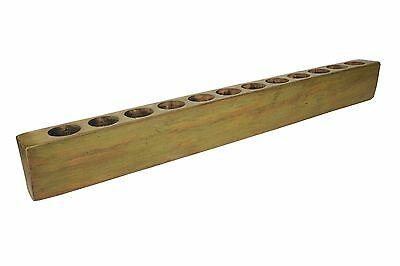 Large 12 hole Sugar Mold -Old Mexican-Primitive-Sugarmold-Candleholder-Olive